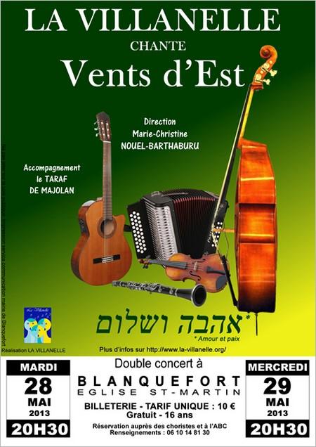 Concert de La Villanelle&nbspVent d'Est