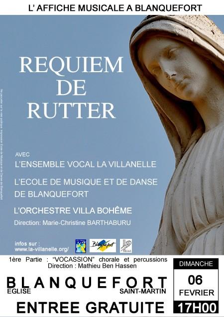 Requiem de John Rutter&nbspAFFICHE MUSICALE A BLANQUEFORT