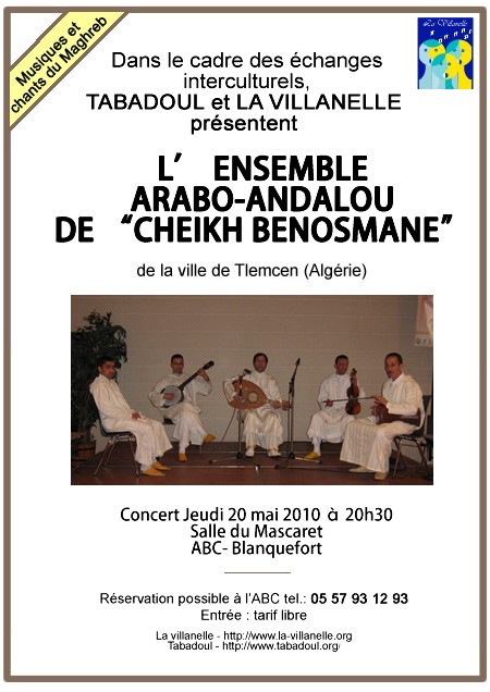 Rencontre interculturelle&nbspL'ensemble ARABO-ANDALOU de