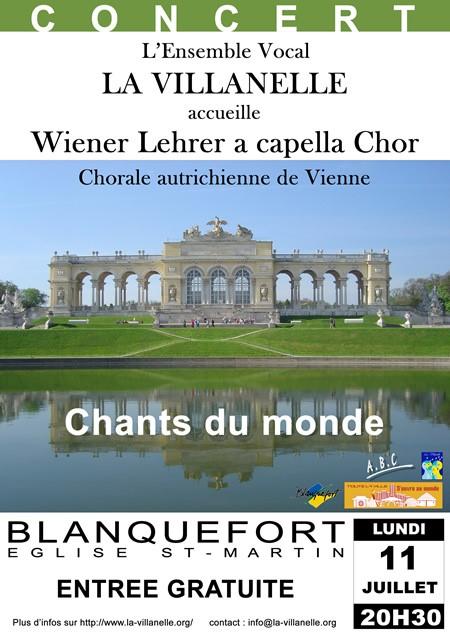 Wiener Lehrer a capella Chor&nbspOpération Toute la ville s'ouvre au monde et aux autres