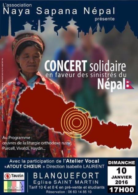Concert Solidarité Népal