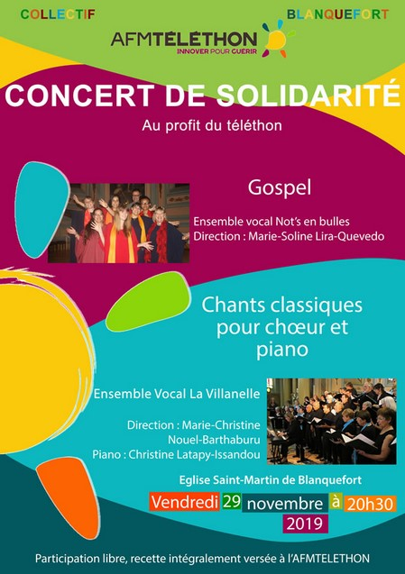 La villanelle en concert&nbspTéléthon